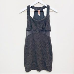{Free People} Dress with Mesh Waist Cut Outs